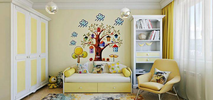 Идеи дизайна интерьера детской комнаты