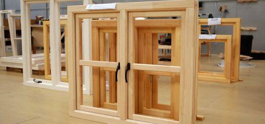 Простые деревянные окна