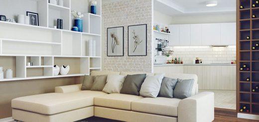 Угловой диван в квартире