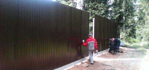 Установка ворот забора на даче